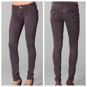 Hudson Collin Flap Skinny Jeans Purple Mox EUC!
